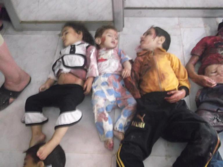 Houla Massacre, Syria: Injured Children