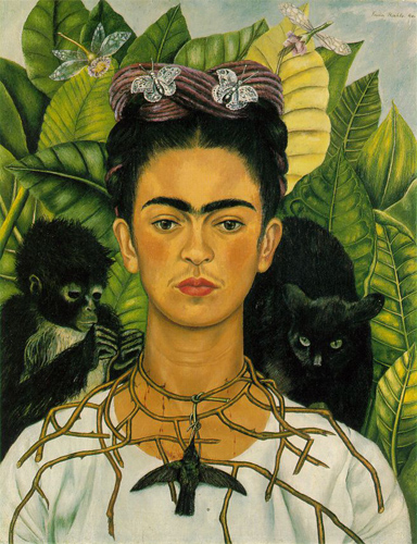 Autorretrato con Collar de Espinas y Colibrí, Nikolas Muray Collection