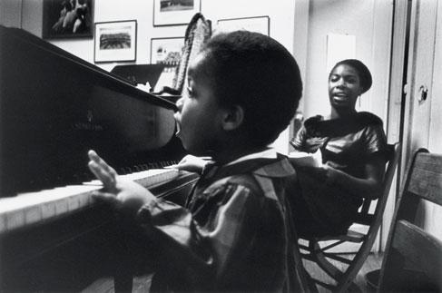 Nina Simone with daughter Simone