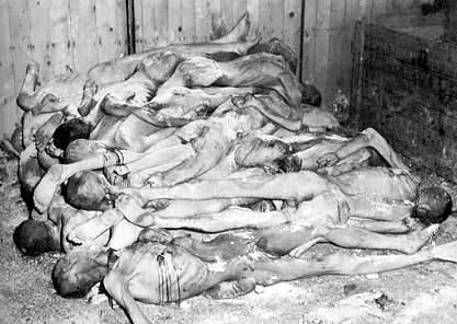 A shed full of dead bodies, concentration camp photo