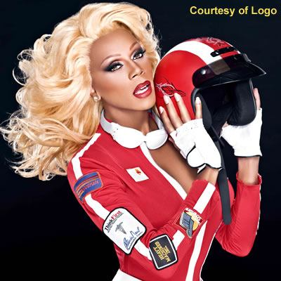 RuPaul posing for Logo