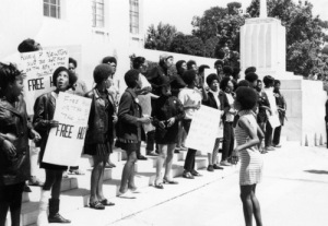 "Women at a ""Free Huey"" rally"