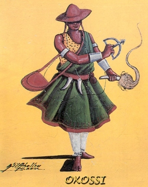 West African and Latin American Goddess Oxossi - huntress, herbalist and philosopher