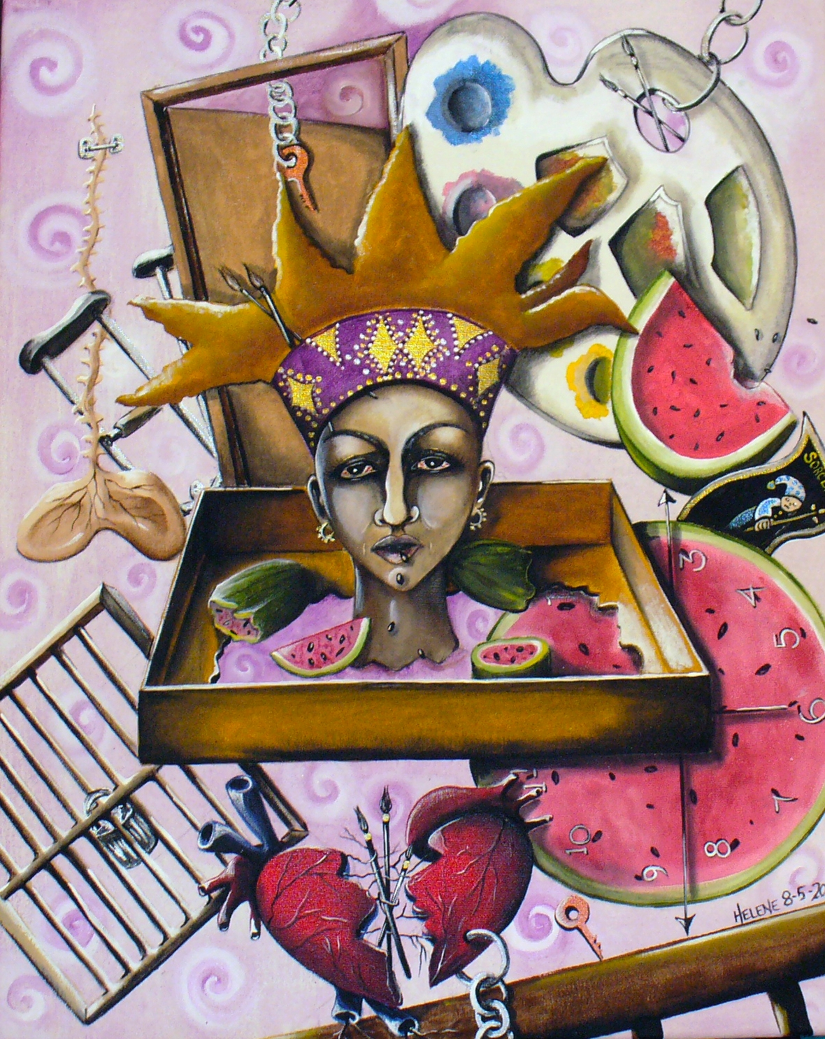 """While Visions of Watermelons Danced in Her Head"" by Helene Ruiz"