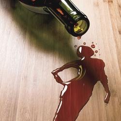 Woman in Wine Stock Photo